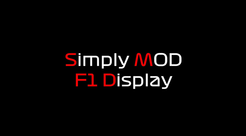 Simply Mod F1 Dash voor Thrustmaster Ferrari F1 Wheel